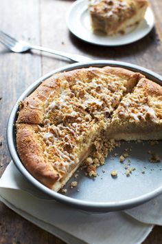 Deep Dish Cinnamon Streusel Dessert Pizza - Pinch of Yum