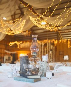 1 4 14 Heather Armstrong Photography Ponderosa Ridge Ranch Anderson Ca Winter Barn Lantern Centerpieceswedding