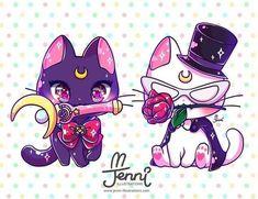 Sailor Luna & Tuxedo Artemis