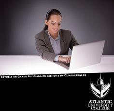 Estudia un Grado Asociado en Ciencias de Computadoras y saldrás preparado al mundo laboral para ser un administrador especializado, con habilidades en planificación, creación y desarrollo, y ser capaz de aplicarlos en la gestión de los sistemas tecnológicos y de información. Para más información llámanos al: 787-720-1022 o envíanos un email a: Admisiones@AtlanticU.edu #SéUnGladiador #InvierteEnTuFuturo #EstudiaConLosNúmero1