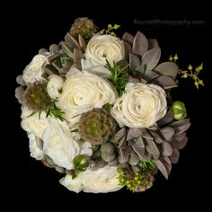 succulent and rose white bouquet - Google Search