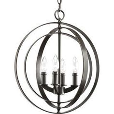 This one is pretty cool too - not sure where I'd put it though.  Thomasville Lighting Equinox 4-Light Antique Bronze Chandelier
