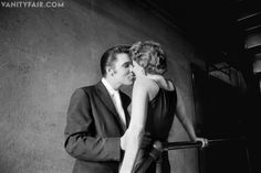 """Elvis and his """"mystery woman"""". Photo taken at Landmark Theater in Richmond, Virginia, in the summer of 1956."""