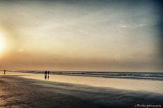 a sun set in Digha