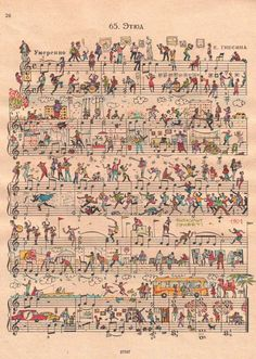 drawing-art-on-sheet-music-bringing-to-life-by-people-too-1.jpg 743×1,045픽셀