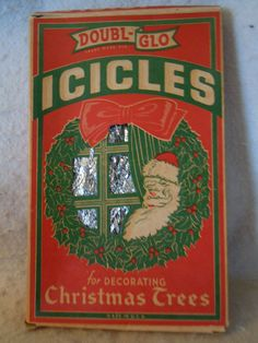 VINTAGE DOUBL-GLO TINSEL ICICLES IN  ORIGINAL BOX