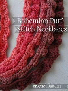 Little Treasures: Puff Stitch Bohemian #Crochet Necklaces #3