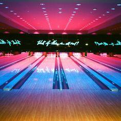 http://www.captainscamera.com Adam Bartoshesky Photo CAPTAIN'S CAMERA CAPTAIN BARTO miami beach florida 35mm film edition hotel basement bowling vibes neon sign