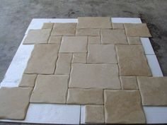 Ivory Travertine Pillow Edges Beige Travertine Flooring Pattern Tiles Antique Style Floor for Exter French Pattern, Under The Lights, Kitchen Tops, Wall Cladding, Wood Crates, Travertine, Tile Patterns, Mosaic Tiles, Ivory