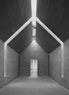 Stone House / Interni Think Tank, Milan, Italy, 2010 by John Pawson. This is a photograph from This is Brutal, a new book about brutalist architecture, Graphic designer Peter Chadwick