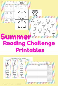 Keep kids reading this summer with these fun summer reading challenge printables! Reading Log Printable, Reading Bingo, Reading Charts, Kids Reading, Reading Skills, Book Challenge, Reading Challenge, Smiley Face Meaning, Homeschool Curriculum