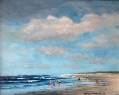Herman Dasselaar. Strandgezicht Acryl on canvas 40x50cm