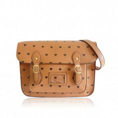 Anna Smith Large Tan Heart Satchel From Bag Envy 40 New Arrival For Spring