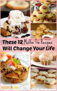 Muffin Tin Recipes These 12 Unexpected Muffin Tin Recipes Will Change Your Life(Pancake Easy Muffin Tins) Cupcake Pan Recipes, Muffin Pan Recipes, Mug Recipes, Cooking Recipes, Cooking Eggs, Baking Muffins, Mini Muffins, Egg Muffins, Party