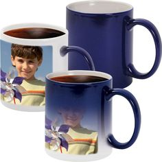Blue Magic Mug- See the magic of your picture/logo/design appearing after the effect of hot beverage.Customised with images / logo / oneliners / messages