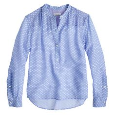 dot blouse / J.Crew