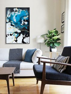 Mockup, Throw Pillows, Bed, Home, Modern Art Paintings, Contemporary Art, Artworks, Toss Pillows, Cushions