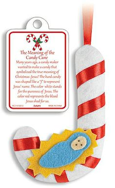 Story of the Candy Cane Ornament with Card