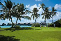Gofl ground at Shangri La Villingili Maldives #voyagewave #themaldives → www.voyagewave.com