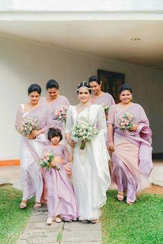 Sri Lankan Wedding Saree, Saree Wedding, Asian Wedding Dress, Elegant Wedding Dress, Bridesmaid Saree, Bridesmaids, Purple Wedding, Dream Wedding, Main Entrance