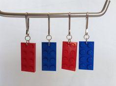 Sac de butin de groupe anniversaire favorise ensemble de 4 tirettes pour thème de bloc de construction de manteau ou sac à dos