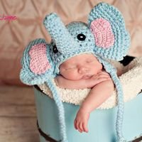 Pdf Elephant Crochet Hat Pattern Si.. on Luulla. I don't know what is cuter, the baby or the hat!!