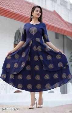 Kurtis & Kurtas Women's Printed Rayon Kurti Fabric: Rayon Sleeve Length: Three-Quarter Sleeves Pattern: Printed Combo of: Single Sizes: XL (Bust Size: 42 in)  L (Bust Size: 40 in)  M (Bust Size: 38 in)  XXL (Bust Size: 44 in)  XXXL (Bust Size: 46 in) Country of Origin: India Sizes Available: M, L, XL, XXL, XXXL   Catalog Rating: ★4.3 (469)  Catalog Name: Women's Printed Rayon Kurtis CatalogID_566180 C74-SC1001 Code: 625-4004072-7731