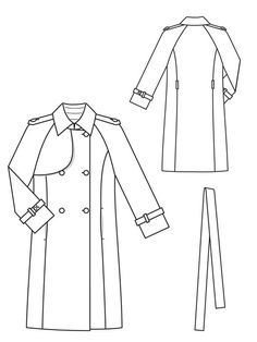 Trench Coat 09/2012 #103 – Sewing Patterns | BurdaStyle.com