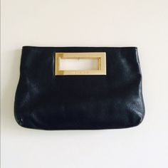 Michael kors clutch authentic MK black clutch! so simple & goes with everything  Michael Kors Bags Clutches & Wristlets