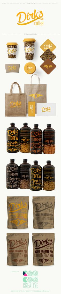 Dirk's Coffee Packaging Design by Coocoo Creative - www.coocoocreative.com