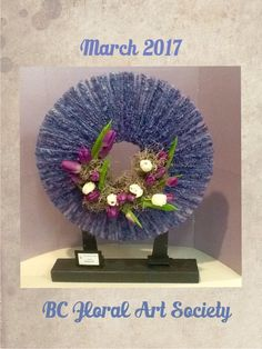 My design for March 2017 meeting incorporating wool/ cordage into the design. My Design, Floral Design, Art Society, Floral Arrangements, Bee, Crochet Hats, March, Wool, Rose Flower Arrangements