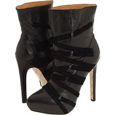 L.A.M.B. ankle Boots. They are available in tan leather as well.
