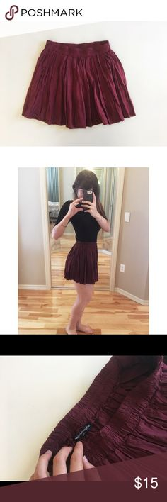 Brandy Melville Burgundy Skirt Perfect condition, beautiful color and super comfy :) Brandy Melville Skirts Mini