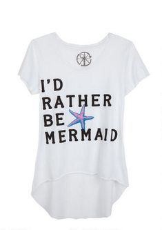 I'd Rather Be A Mermaid Tee - View All Graphic Tees - Tops - Clothing - dELiA*s