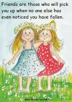 quenalbertini: Best friends by Virpi Pekkala Friends In Love, My Best Friend, Best Friends, Happy Friendship Day, Friendship Quotes, Sisters In Christ, Soul Sisters, Beautiful Friend, Whimsical Art