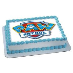 Paw Patrol 4 Edible Birthday Cake Topper