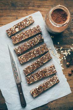 Hazelnut Cocoa Granola Bars
