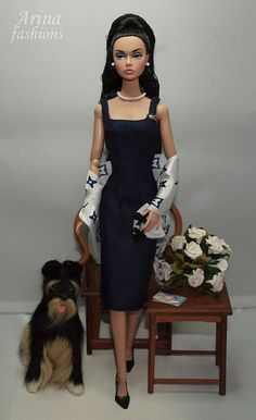 Poppy Parker doll dioramas | ... fashions OOAK outfit for Silkstone Barbie, Poppy Parker and FR2 dolls