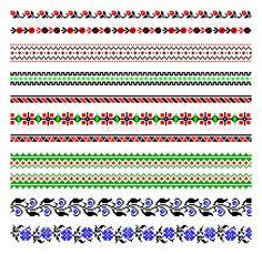 Украинская вышивка украшения — Cтоковый вектор #4807074