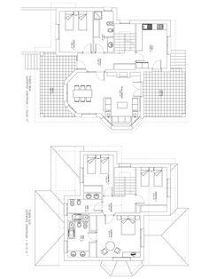 Plano constructivo de vivienda de 194 m2