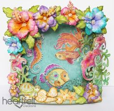 Heartfelt Creations | Colorful Hibiscus And Sea