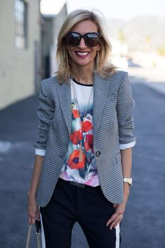 New on the blog today, our Spring Bloom Graphic T Shirt styled with our classic Milano Blazer and Tomato Red Stone Necklace & Earring Set - All part of our 24-HR Flash Sale . Get 15% off today's featured items with code FS314 plus Free US Shipping, stop by and check it out www.jacketsociety.com