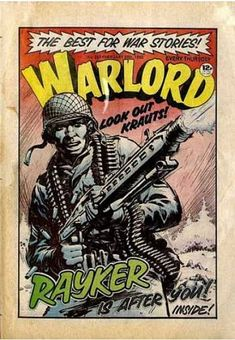 warlord comic - Google Search Old Comic Books, Comic Book Covers, Vintage Comics, Vintage Books, War Comics, Books For Boys, Old Games, Classic Comics, Comic Art