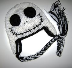 Crochet Skull Halloween hat with Ear Flaps  6 to by JessikiReeve, $17.00