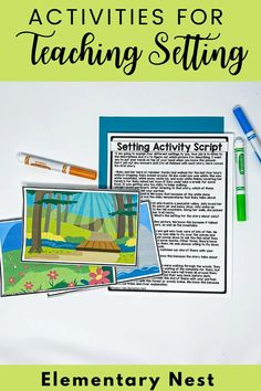 This blog post focuses on how to teach SETTING during your story elements unit. Learn about tips and activities to teach setting in your elementary classroom with anchor charts, lessons, read aloud suggestions, and activities. Fluency Activities, Grammar Activities, Reading Activities, Kindergarten Activities, Teaching Jobs, Help Teaching, Teaching Reading, Common Core Ela, 3rd Grade Reading