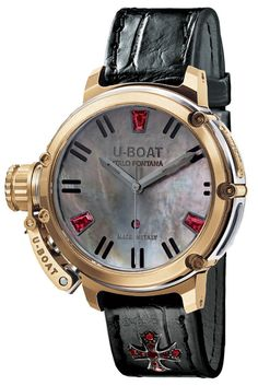 u-boat Chimera Rubies Mother Of Pearl bracelet strap alligator yellow gold case 40 mm movement automatic water resistant 100 m