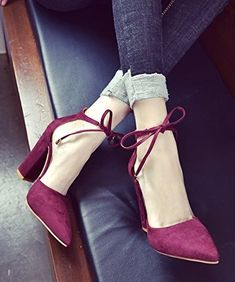 Burgundy-colored Steve Madden pumps, designed for feet that prefer a classic look. Like the Audrey Hepburn of shoes