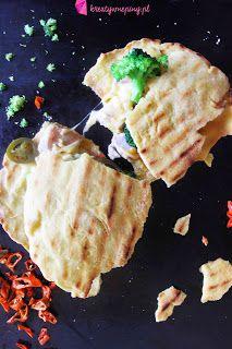 Kreatywnepiny: Domowa Quesadilla z serem i kurczakiem