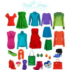 Bright Spring Brights by sabira-amira on Polyvore