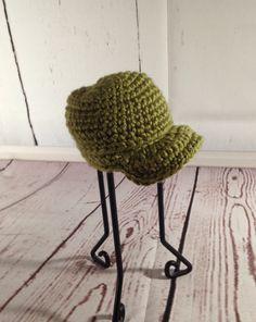 Newborn Hat - Crochet Hat - Army Hat - Crochet Baby Hat - Baby Photo Prop - Baby Hat - Baby Beanie - Green Hat - Crochet Beanie - Baby Cap by StephsFamilyStitches on Etsy https://www.etsy.com/ca/listing/235639089/newborn-hat-crochet-hat-army-hat-crochet